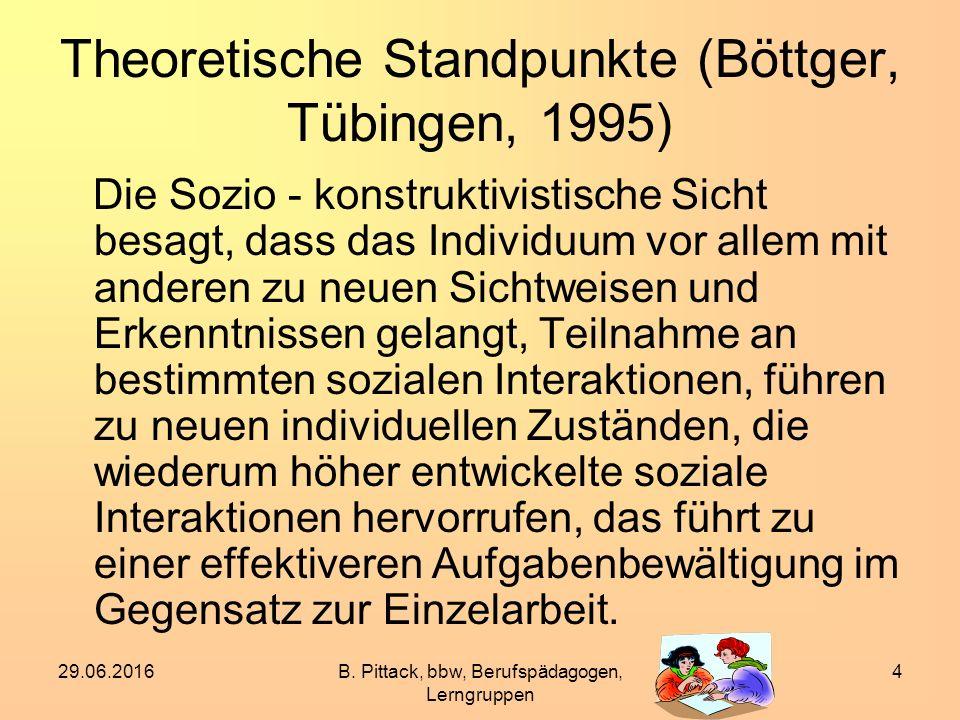 Theoretische Standpunkte (Böttger, Tübingen, 1995)