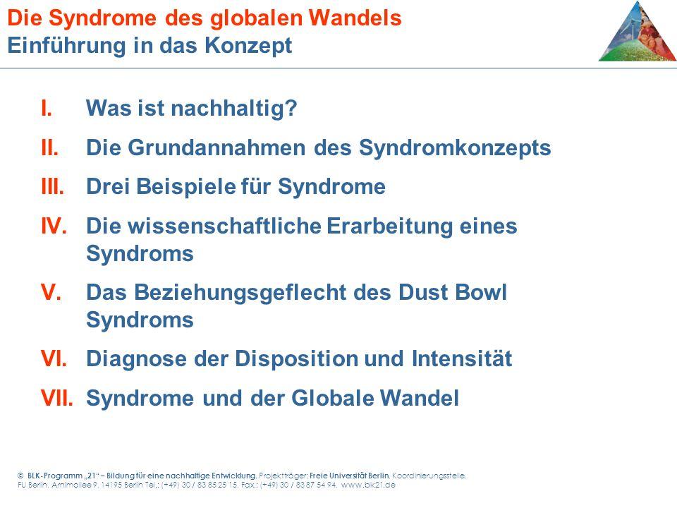 Die Syndrome des globalen Wandels Einführung in das Konzept