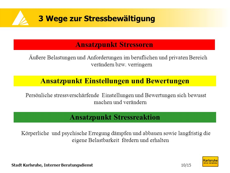 3 Wege zur Stressbewältigung