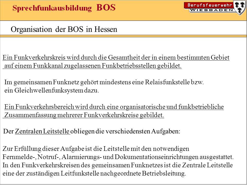 Organisation der BOS in Hessen