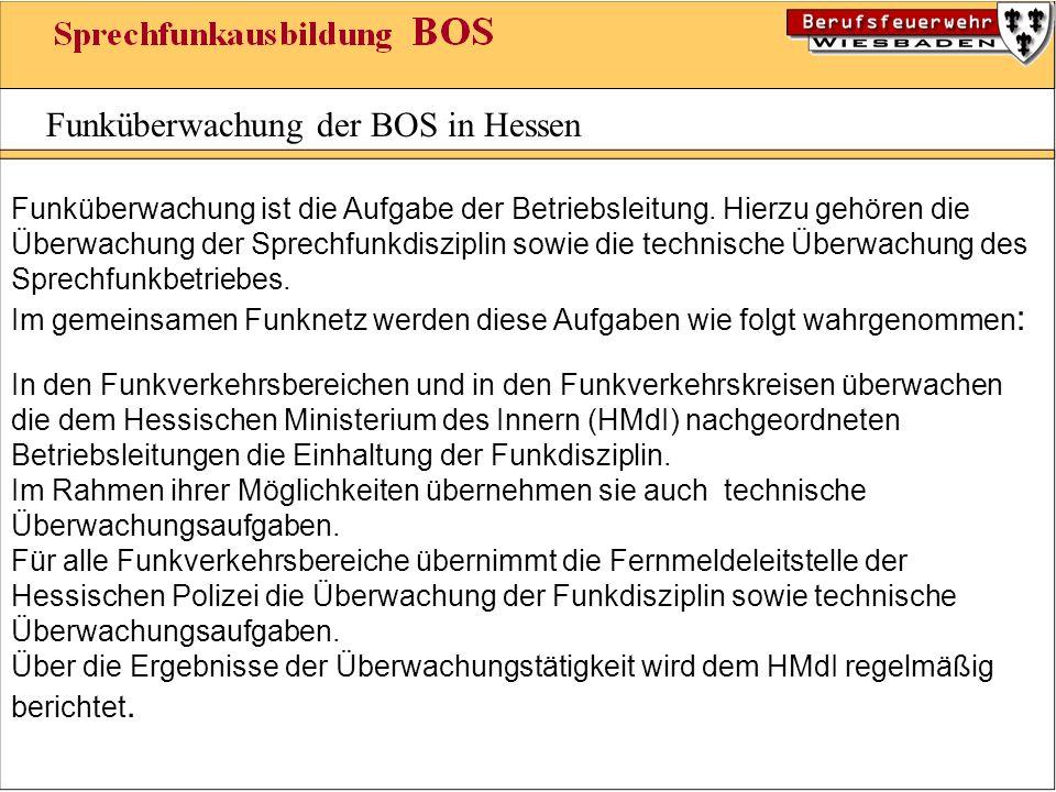 Funküberwachung der BOS in Hessen