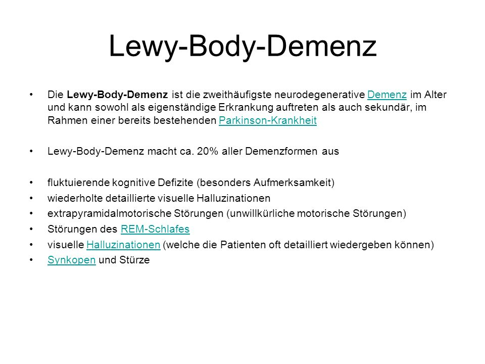 Lewy-Body-Demenz