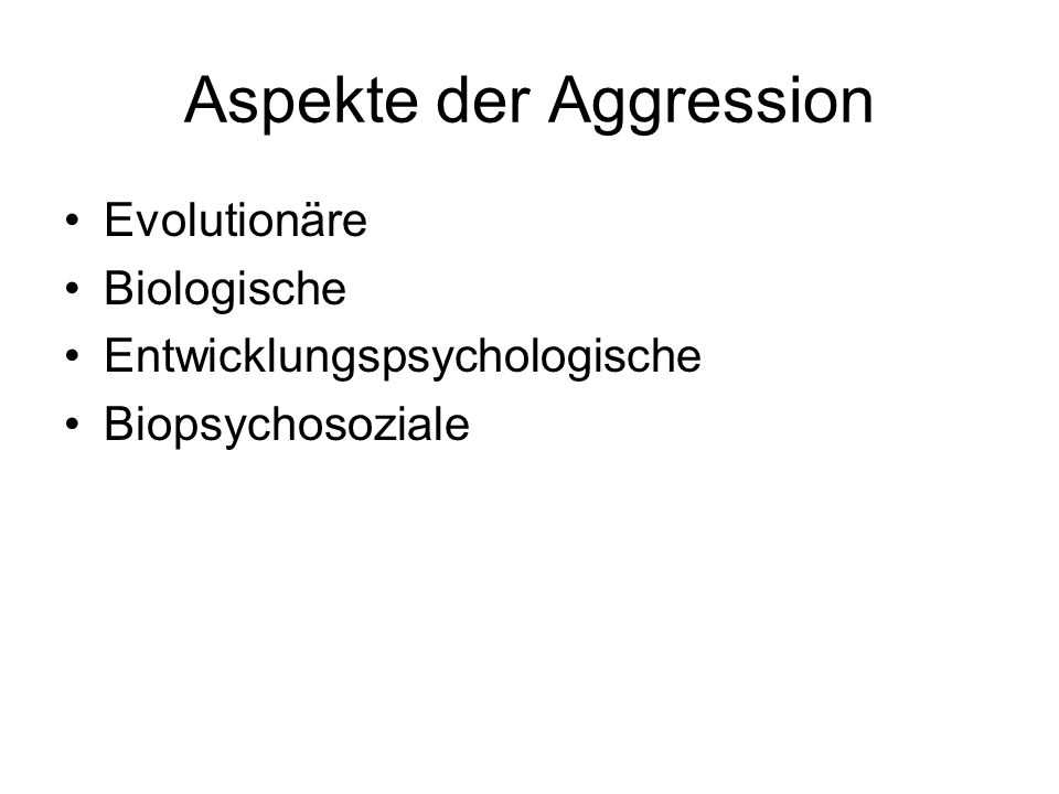 Aspekte der Aggression