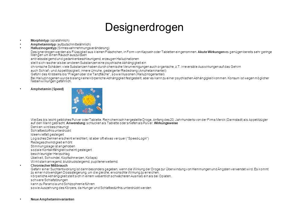 Designerdrogen Morphintyp (opiatähnlich)
