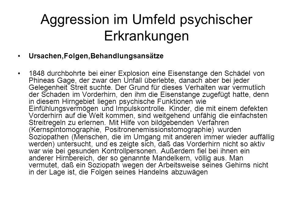 Aggression im Umfeld psychischer Erkrankungen