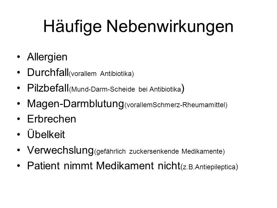 Häufige Nebenwirkungen
