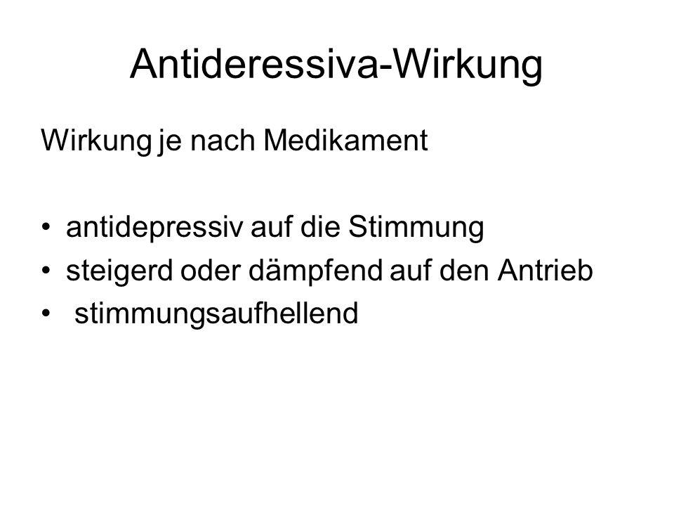 Antideressiva-Wirkung