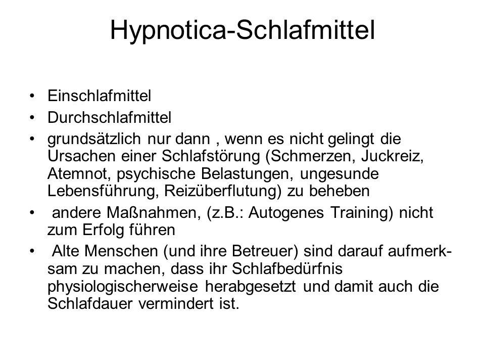 Hypnotica-Schlafmittel