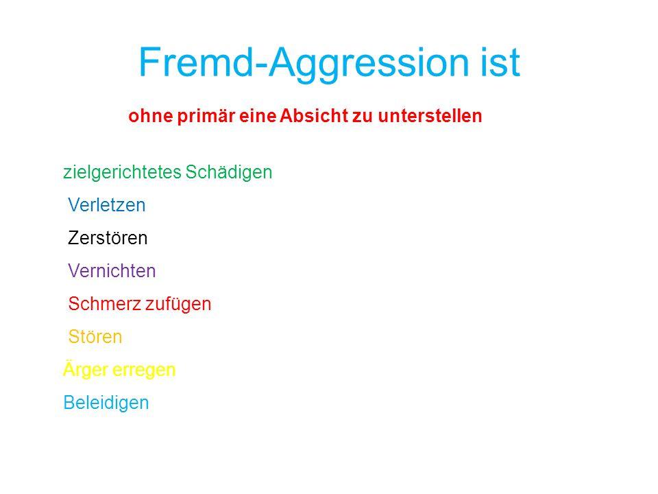 Fremd-Aggression ist ohne primär eine Absicht zu unterstellen