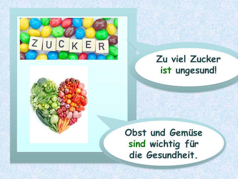Obst und Gemüse sind wichtig für die Gesundheit.