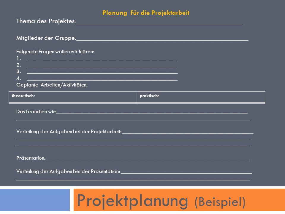 Projektplanung (Beispiel)