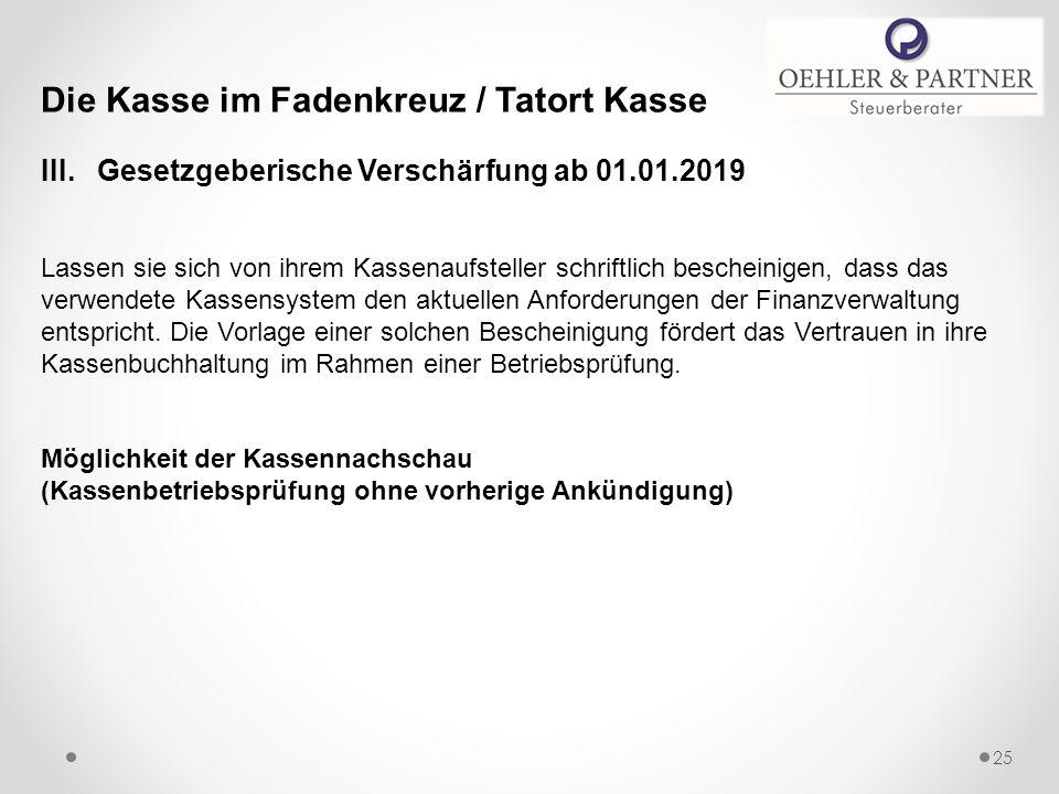 Die Kasse im Fadenkreuz / Tatort Kasse