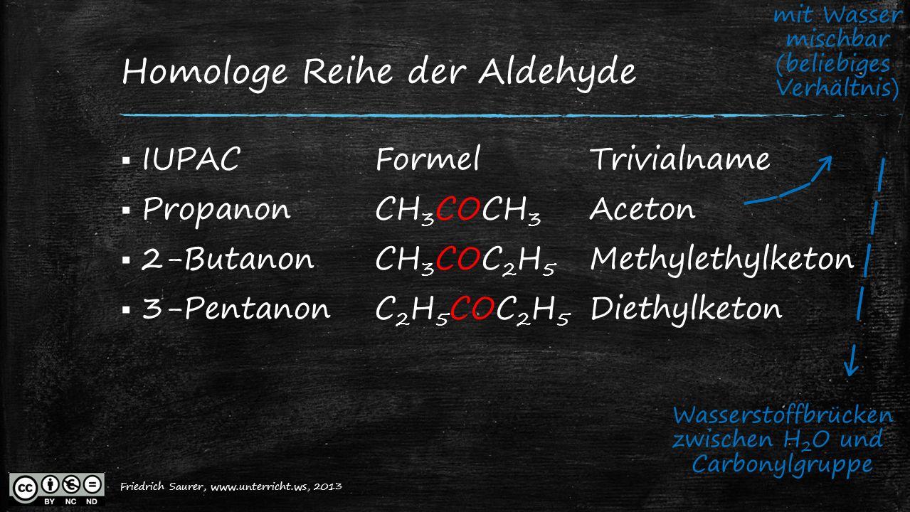 Homologe Reihe der Aldehyde