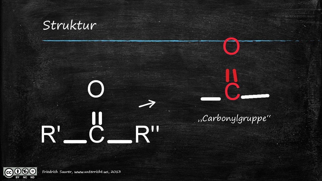 """Struktur ← """"Carbonylgruppe Friedrich Saurer, www.unterricht.ws, 2013"""