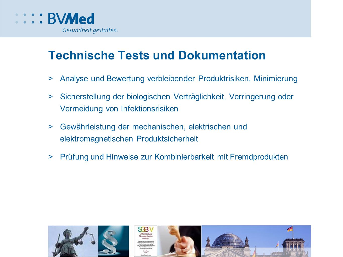 Technische Tests und Dokumentation