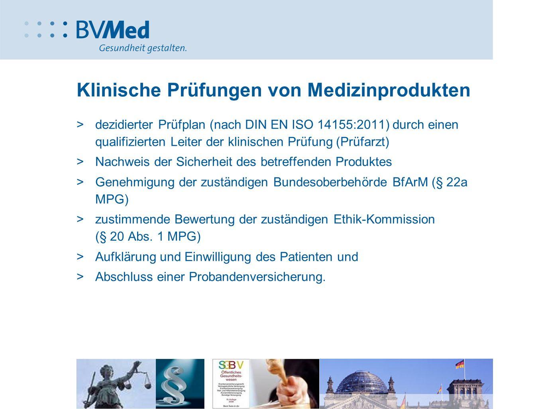 Klinische Prüfungen von Medizinprodukten