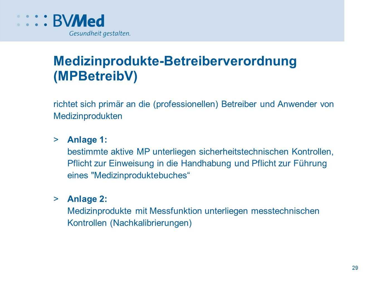 Medizinprodukte-Betreiberverordnung (MPBetreibV)