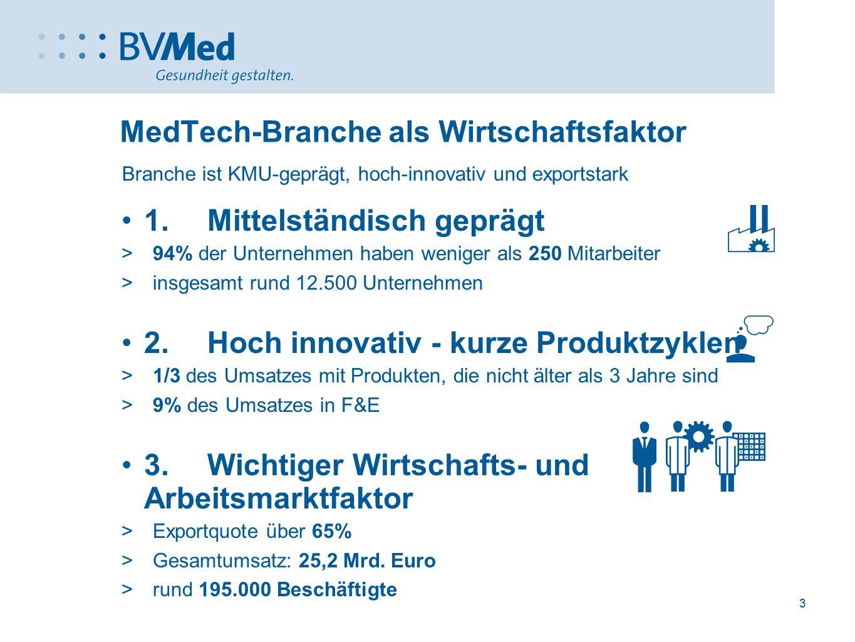 MedTech-Branche als Wirtschaftsfaktor
