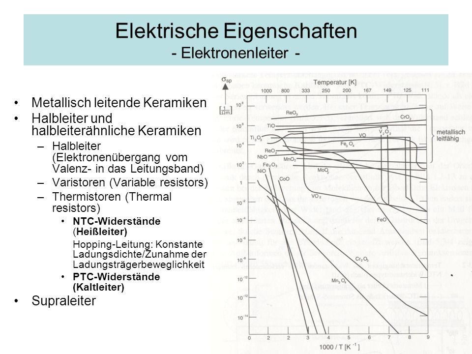 Elektrische Eigenschaften - Elektronenleiter -