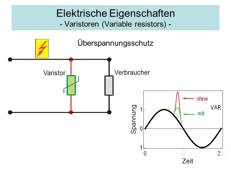 Elektrische Eigenschaften - Varistoren (Variable resistors) -