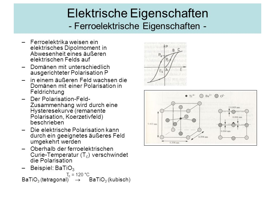 Elektrische Eigenschaften - Ferroelektrische Eigenschaften -