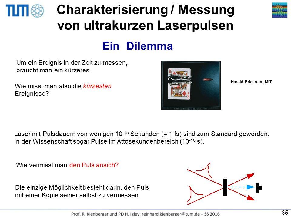 Charakterisierung / Messung von ultrakurzen Laserpulsen
