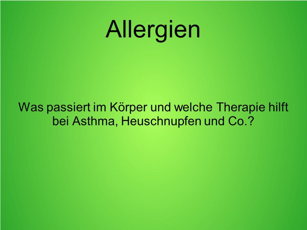 Allergien Was passiert im Körper und welche Therapie hilft bei Asthma, Heuschnupfen und Co.