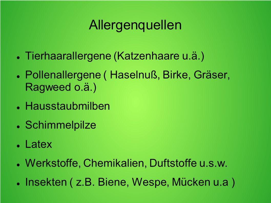 Allergenquellen Tierhaarallergene (Katzenhaare u.ä.)