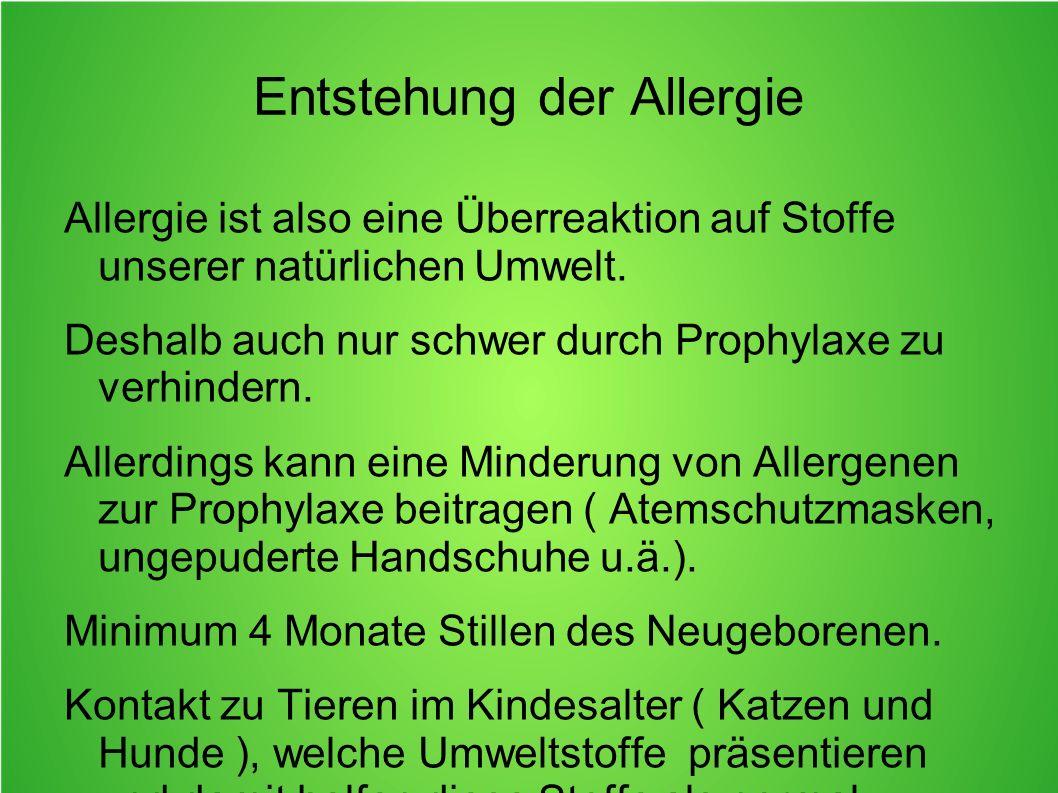 Entstehung der Allergie
