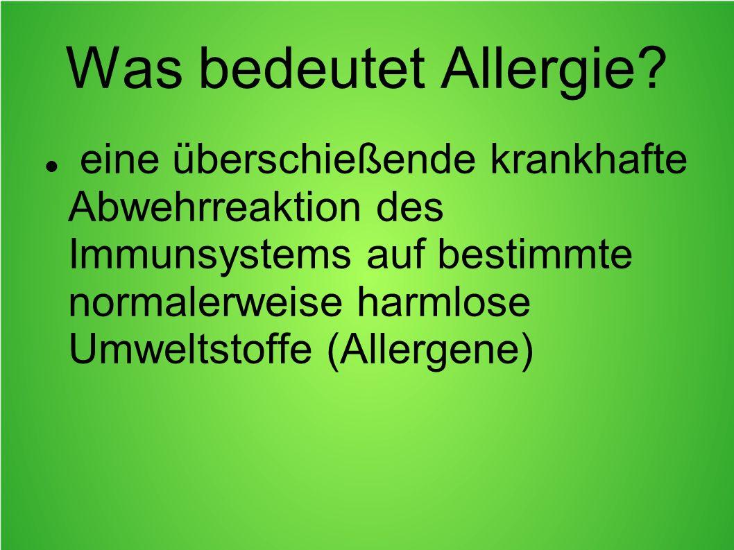 Was bedeutet Allergie