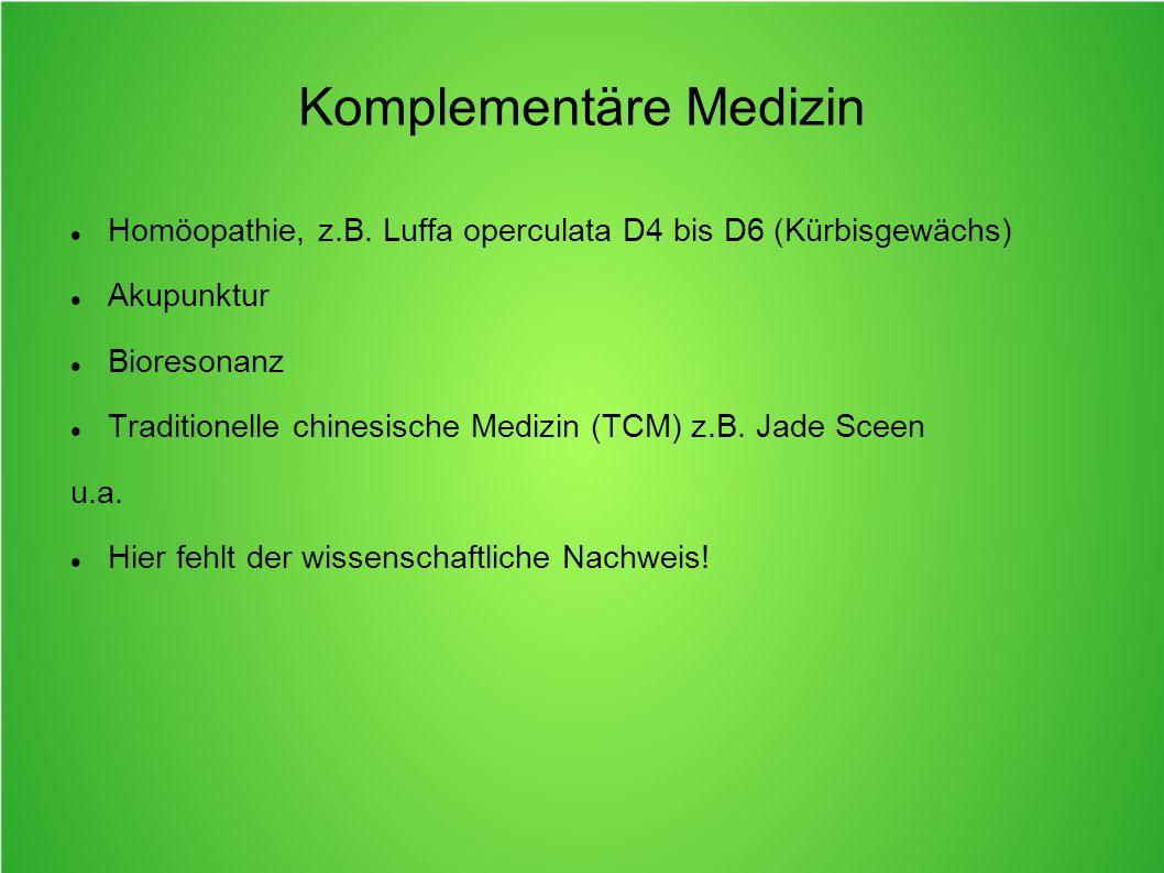 Komplementäre Medizin