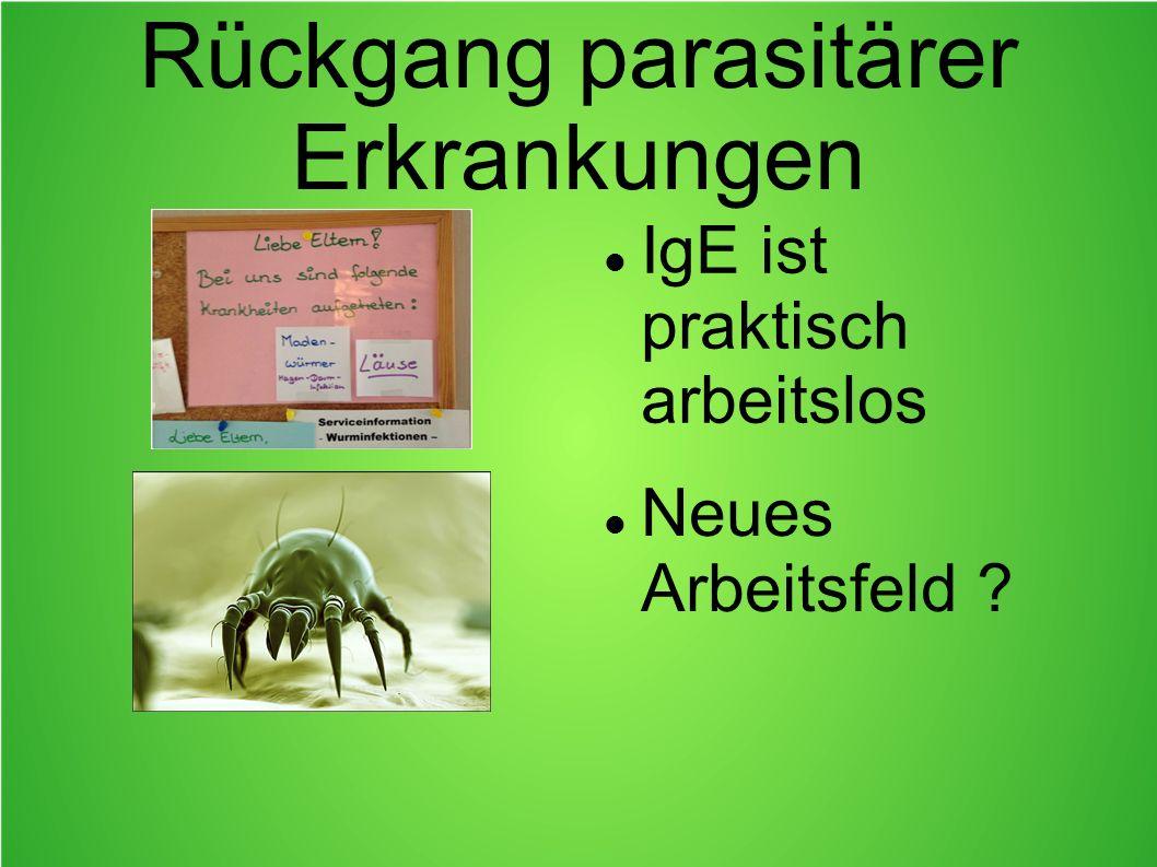 Rückgang parasitärer Erkrankungen