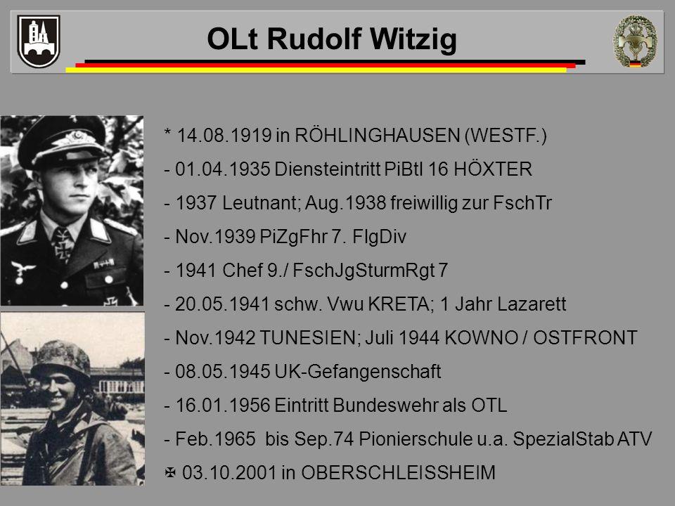 OLt Rudolf Witzig * 14.08.1919 in RÖHLINGHAUSEN (WESTF.)