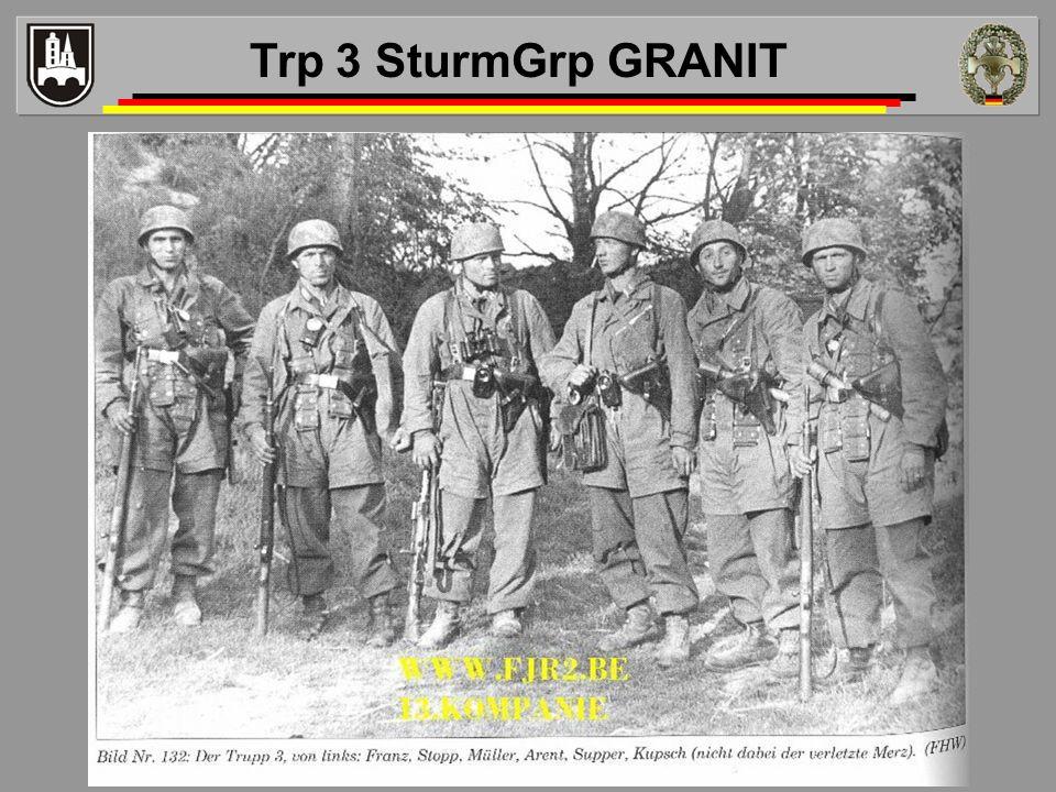 Trp 3 SturmGrp GRANIT Hinweis hier Trupp 3 - Fhr Oberjäger Peter Arent