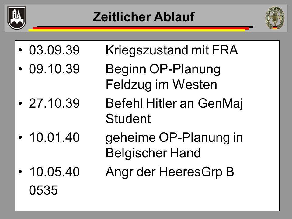 09.10.39 Beginn OP-Planung Feldzug im Westen