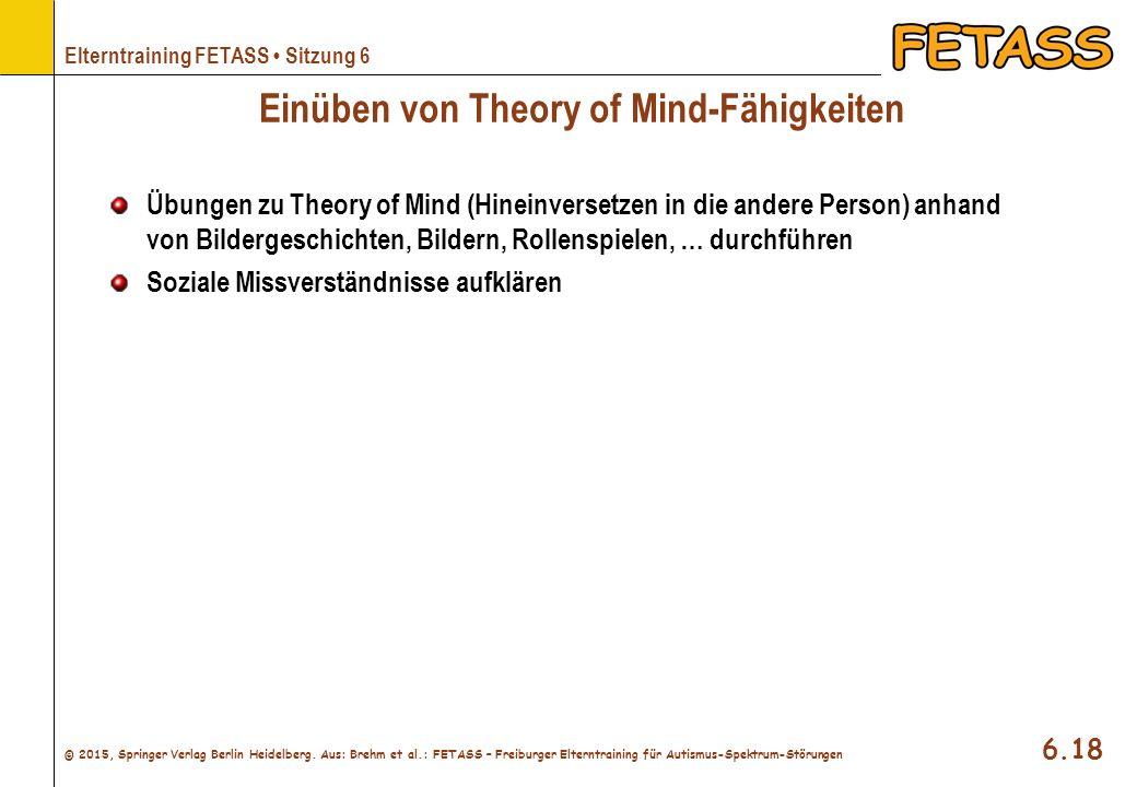 Einüben von Theory of Mind-Fähigkeiten