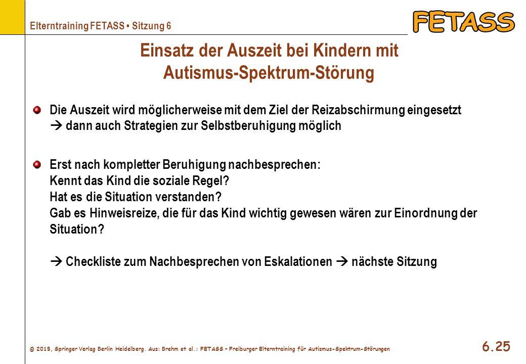 Einsatz der Auszeit bei Kindern mit Autismus-Spektrum-Störung