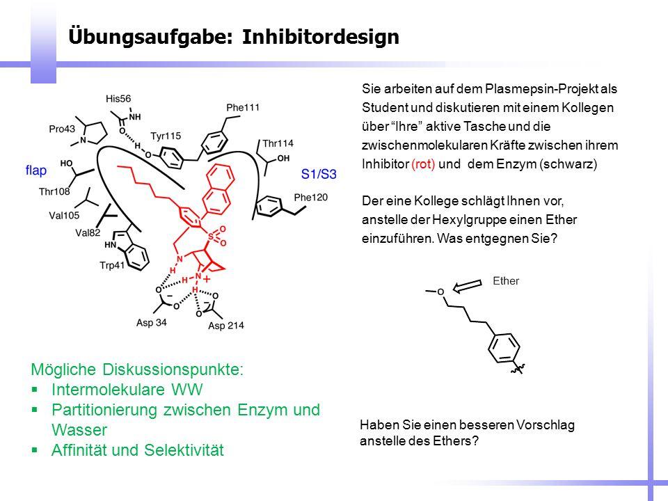 Übungsaufgabe: Inhibitordesign