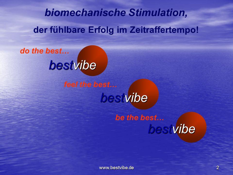 biomechanische Stimulation, der fühlbare Erfolg im Zeitraffertempo!