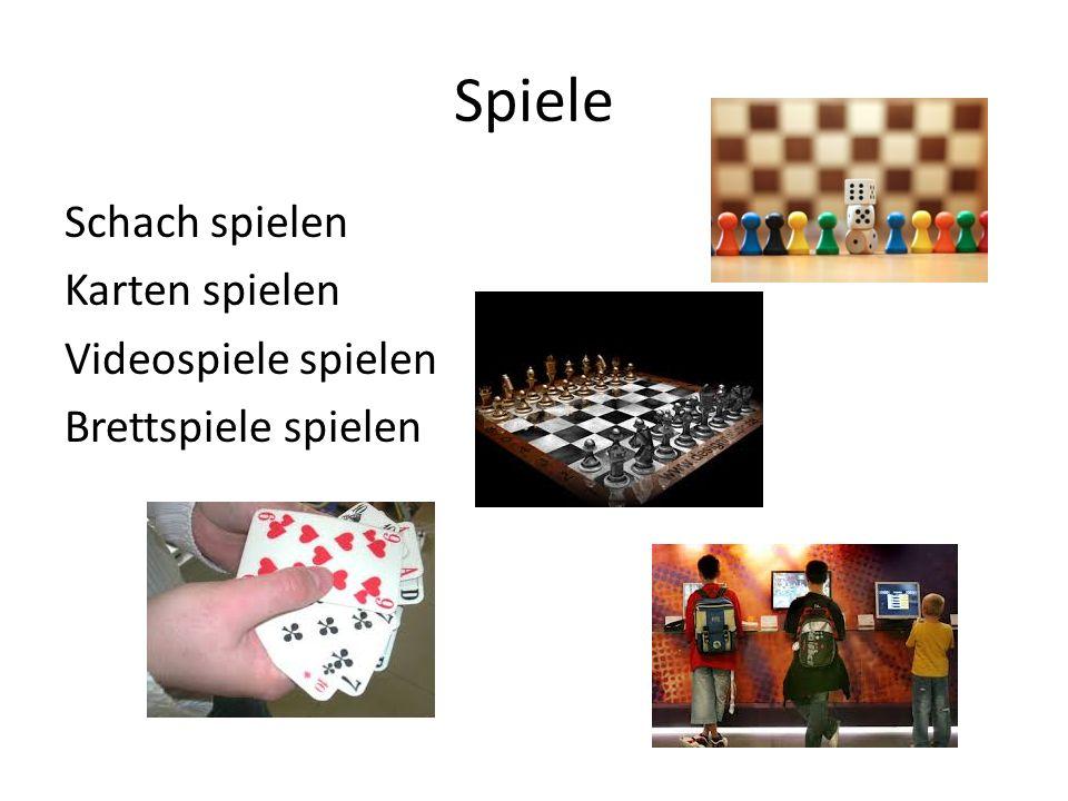 Spiele Schach spielen Karten spielen Videospiele spielen Brettspiele spielen