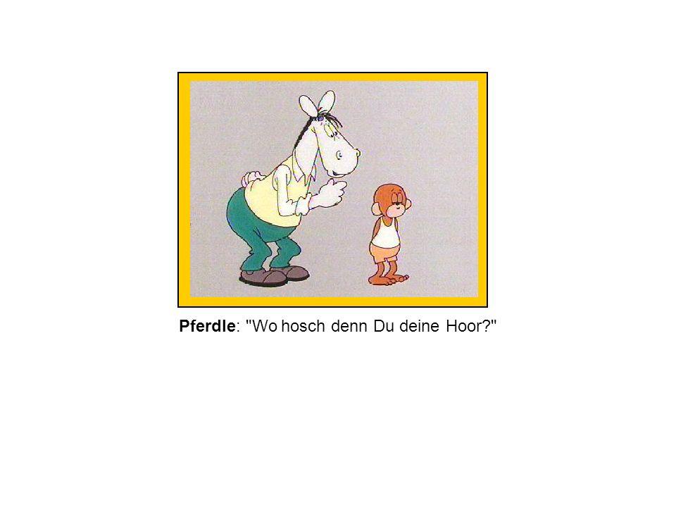 Pferdle: Wo hosch denn Du deine Hoor