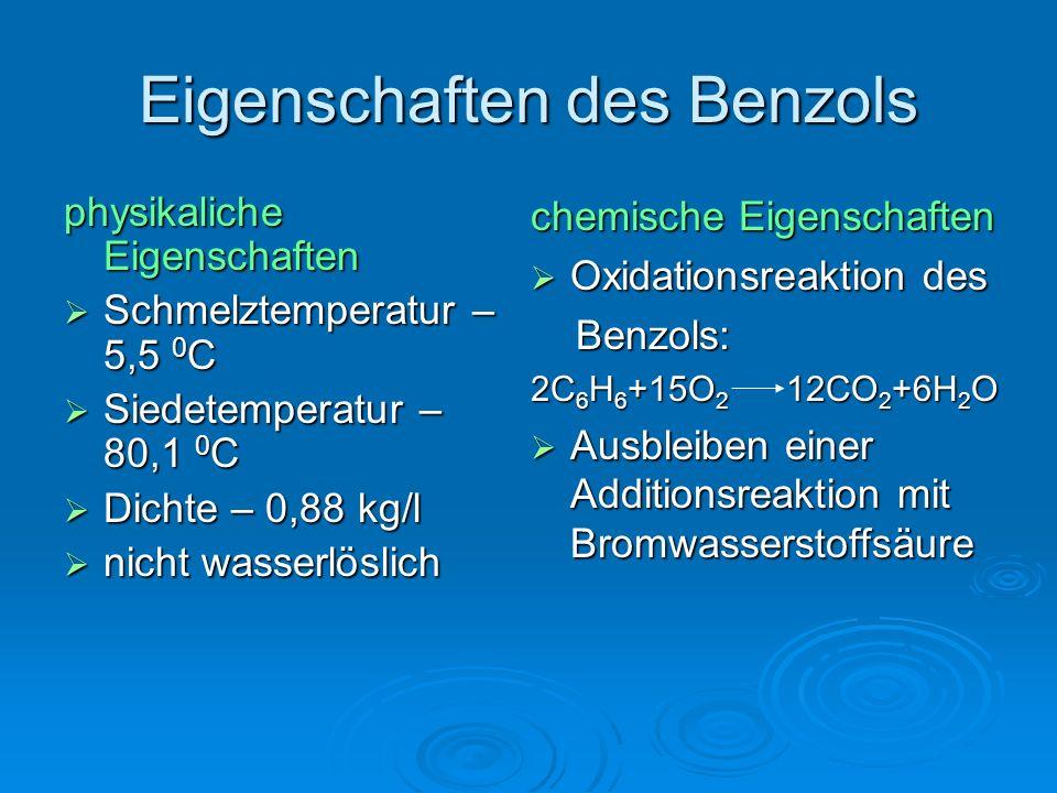 Eigenschaften des Benzols