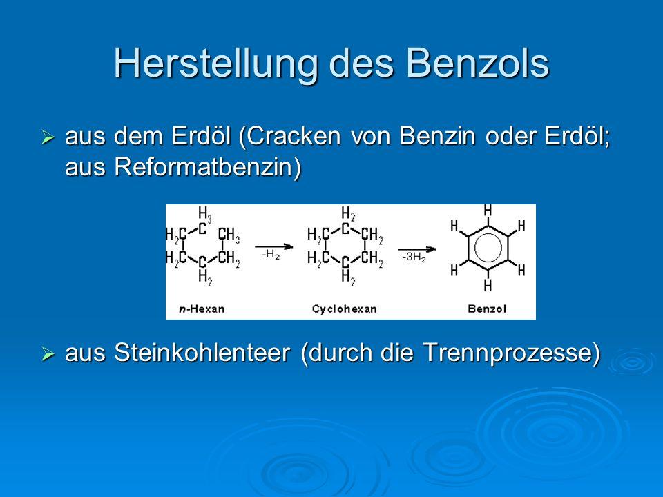 Herstellung des Benzols