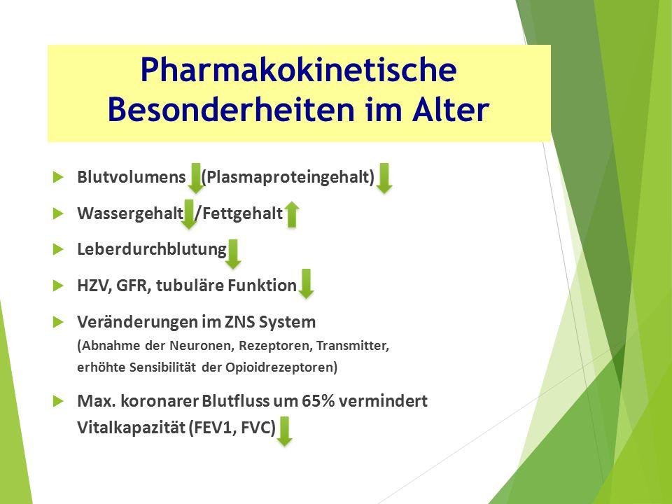 Pharmakokinetische Besonderheiten im Alter