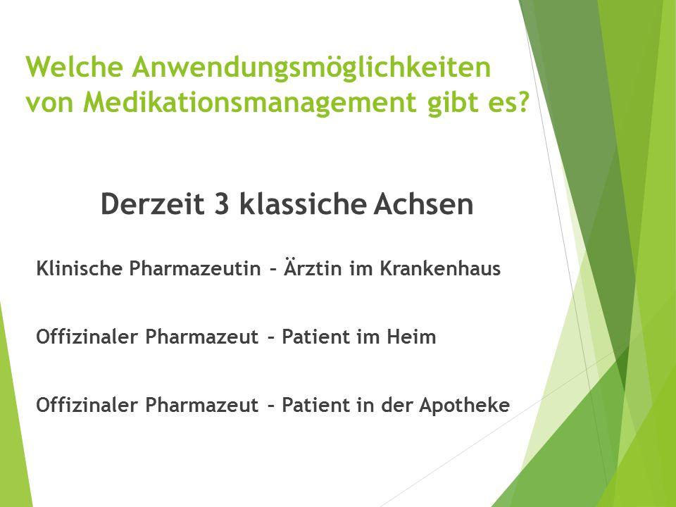Welche Anwendungsmöglichkeiten von Medikationsmanagement gibt es