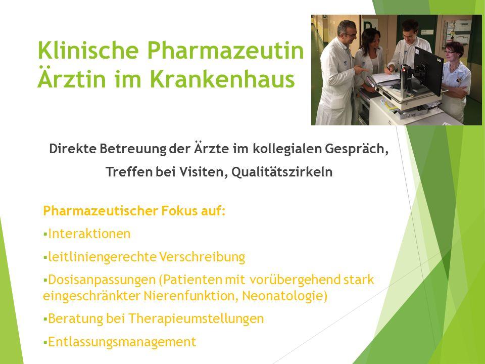 Klinische Pharmazeutin – Ärztin im Krankenhaus