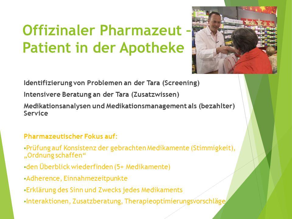 Offizinaler Pharmazeut – Patient in der Apotheke
