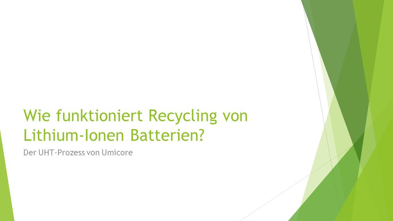 Wie funktioniert Recycling von Lithium-Ionen Batterien