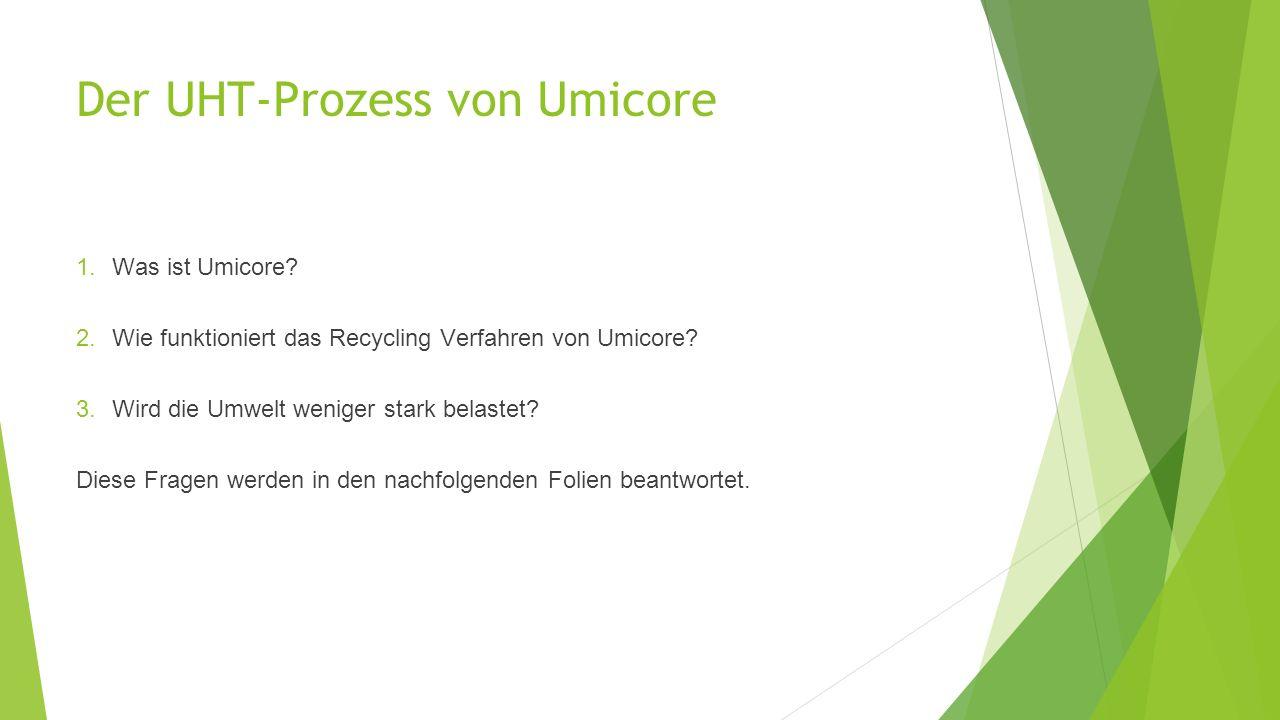 Der UHT-Prozess von Umicore