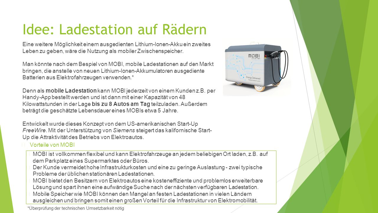 Idee: Ladestation auf Rädern